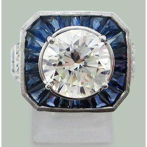 Diamond Sapphire Ring Diamond Sapphire